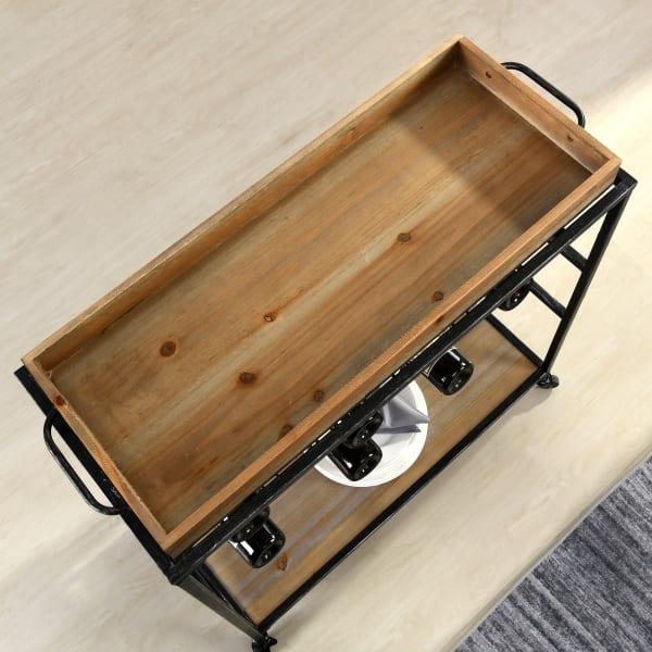 Farmhouse Removable Tray Bar Cart