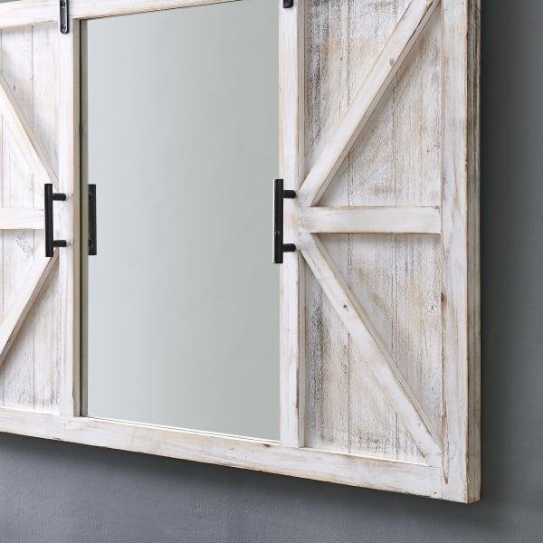 Farmhouse Barn Door Mirror