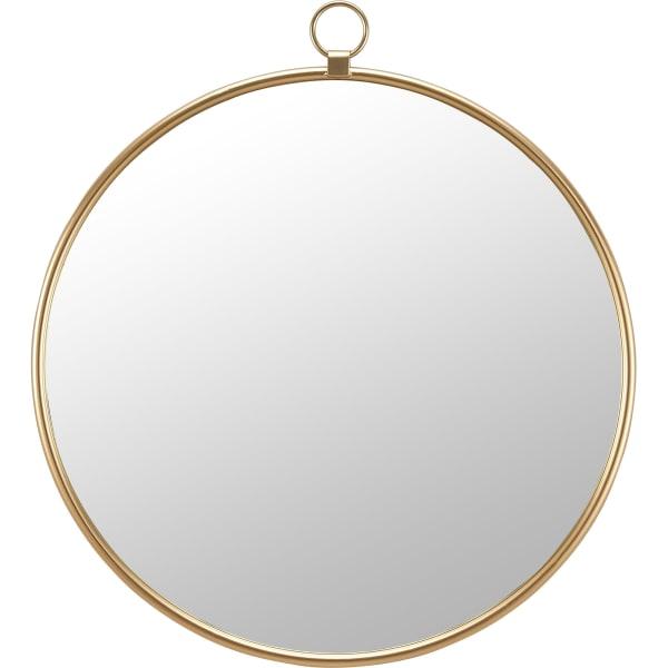 Gold Round Mirror