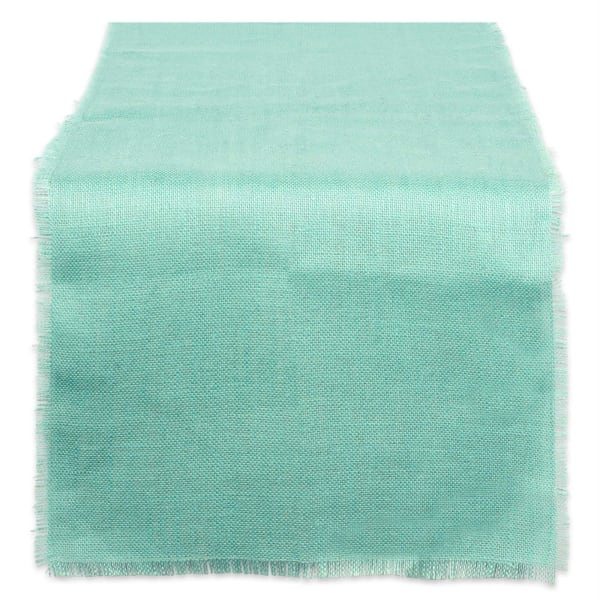 Aqua Jute Table Runner 15x74