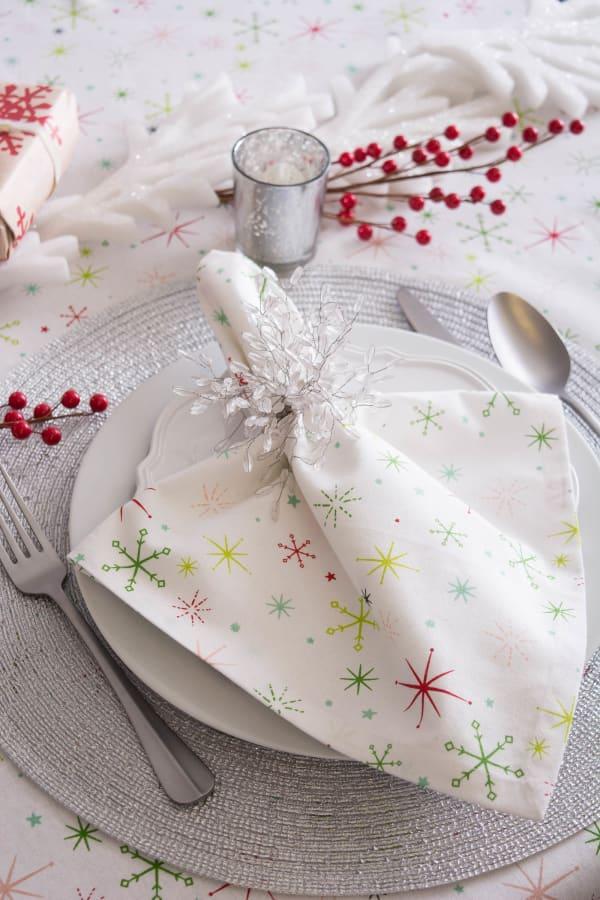 Christmas Star Print Tablecloth 60x84