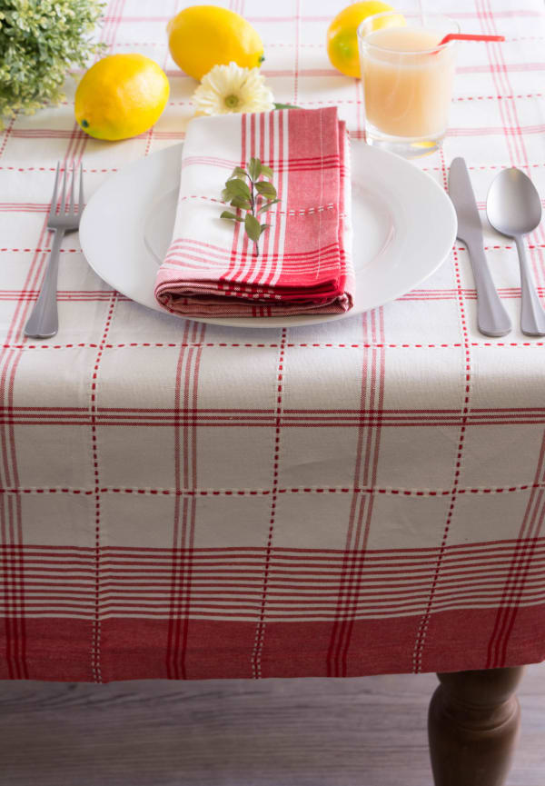 Country Plaid Tablecloth 60x104