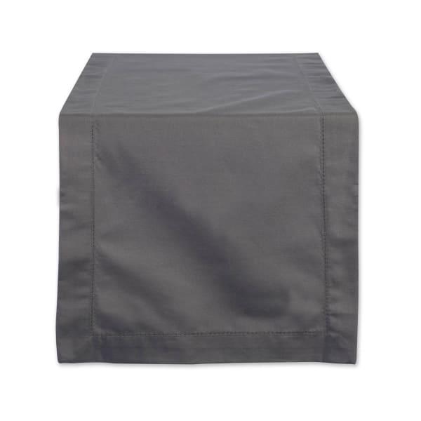Gray Hemstitch Table Runner 14x108