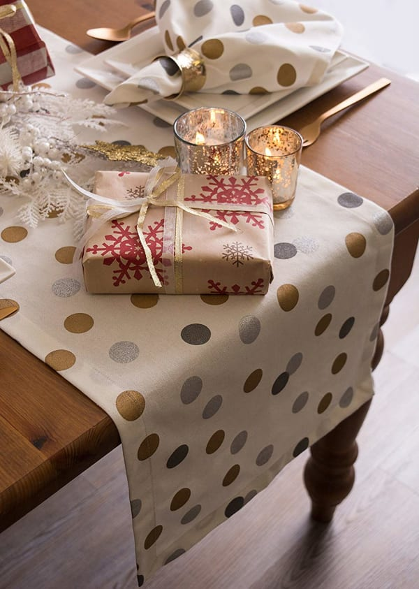 Metallic Confetti Table Runner 14x108