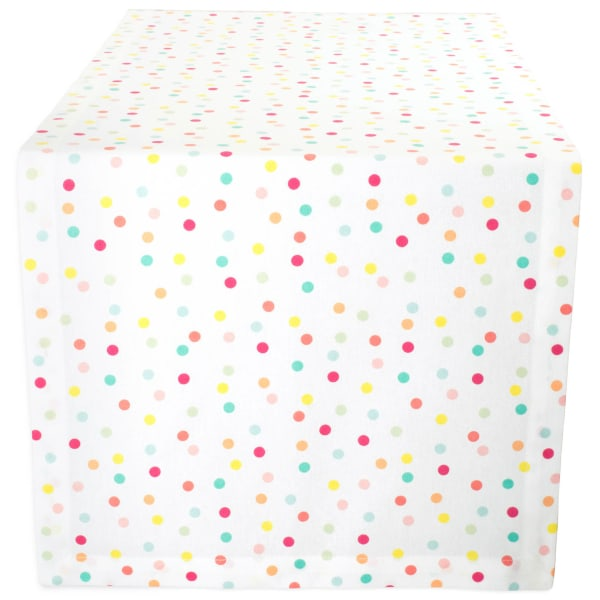 Multi Polka Dots Print Table Runner 14x72