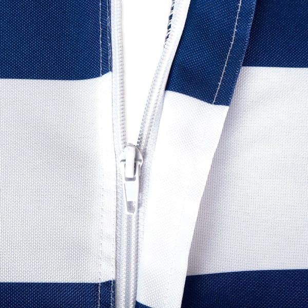 Nautical Blue Cabana Stripe Outdoor Tablecloth With Zipper 60x120