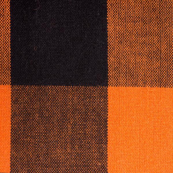 Orange Buffalo Check Tablecloth 60x84