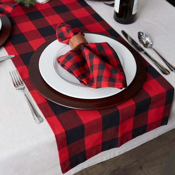 Red Buffalo Check Table Runner 14x108