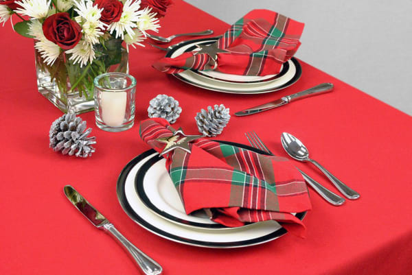 Red Polyester Tablecloth 60x120