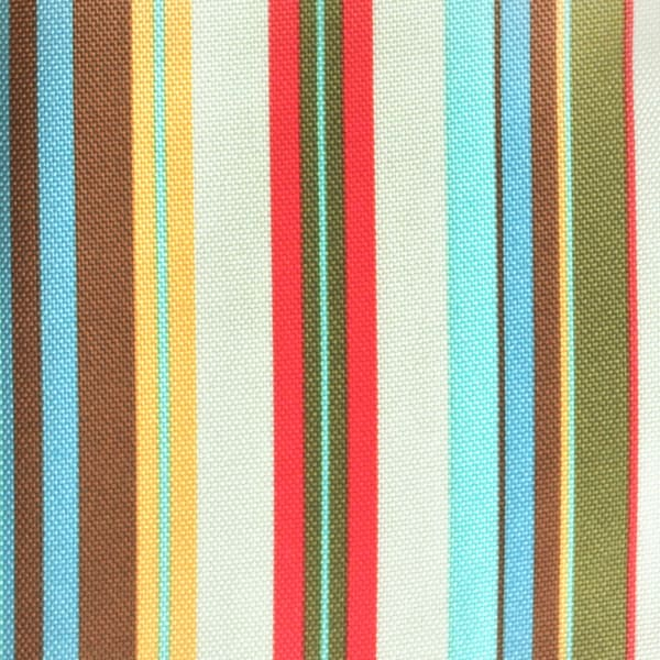 Summer Stripe Outdoor Tablecloth With Zipper 52 Round