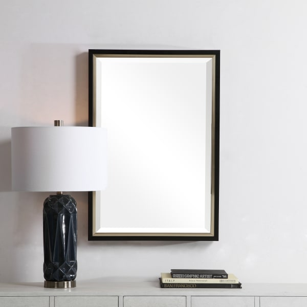 Black and Gold Frame Wall Mirror