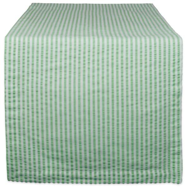 Bright Green Seersucker Table Runner 14x108