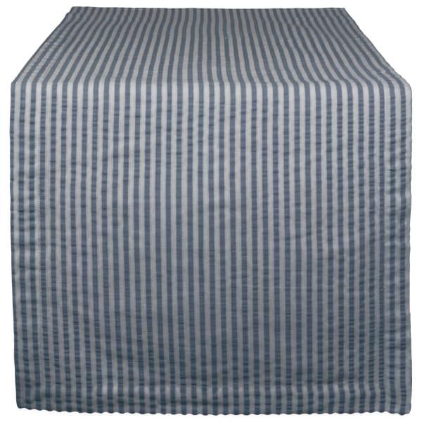 French Blue Seersucker Table Runner 14x108