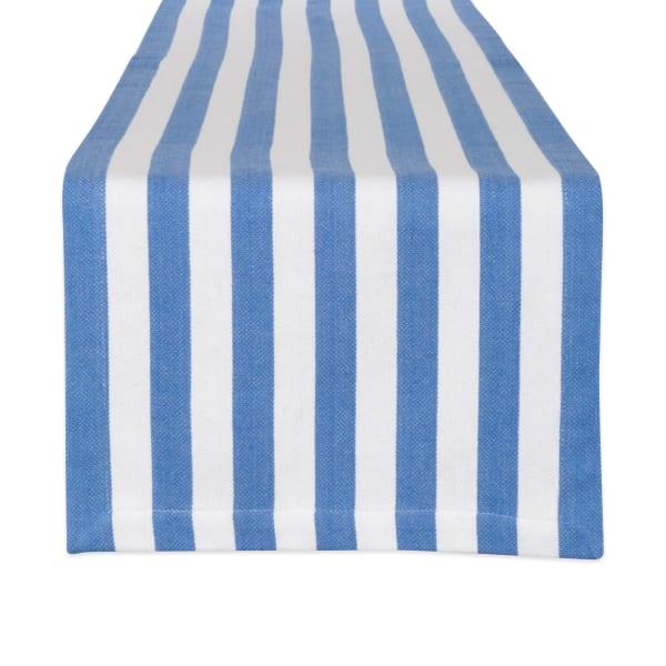 Tropical Blue Cabana Stripe Table Runner 13x72