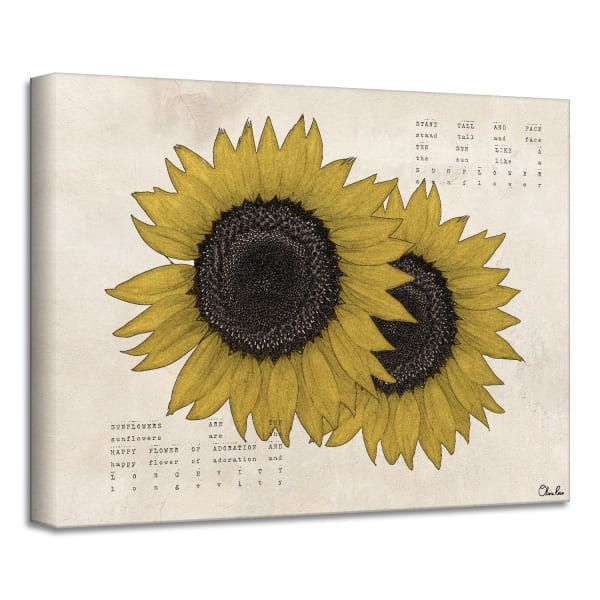 Poetic Flora XIII Yellow Canvas Floral Wall Art