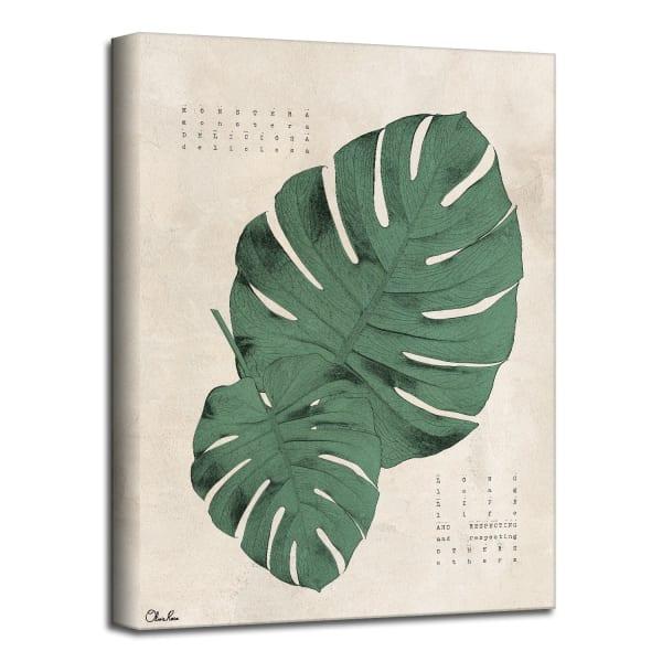 Poetic Flora XVI Green Canvas Botanical Wall Art
