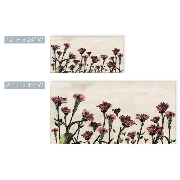 Poetic Flora XXV Beige Canvas Floral Wall Art