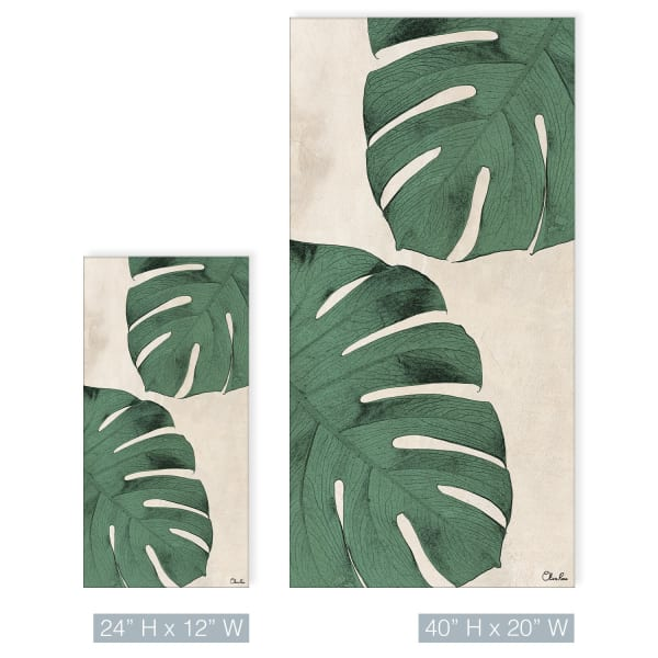 Poetic Flora XXVIII Green Canvas Botanical Wall Art