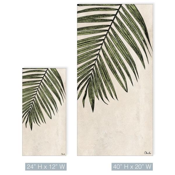 Poetic Flora XXX Beige Canvas Botanical Wall Art