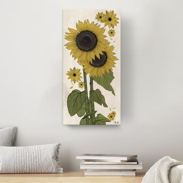 Poetic Flora XXXII Yellow Canvas Floral Wall Art