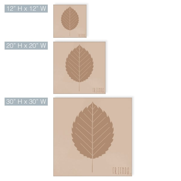 Minimal Leaf II Fall Harvest Brown Canvas Wall Art