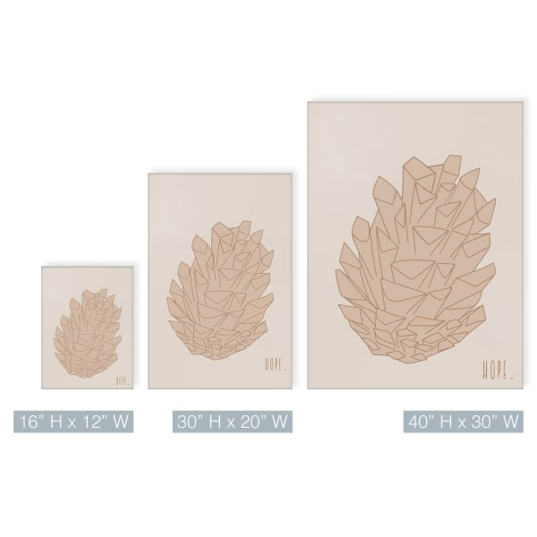 Minimal Pinecone I Fall Harvest Canvas Wall Art