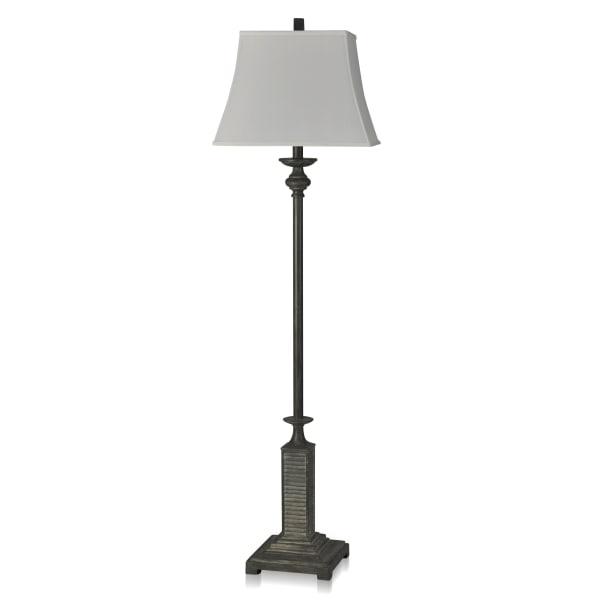 Fynn Gray Shuttered Matching Trim Floor Lamp