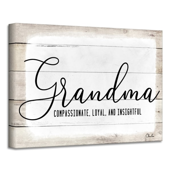 Admiration Canvas Textual Wall Art - Grandma