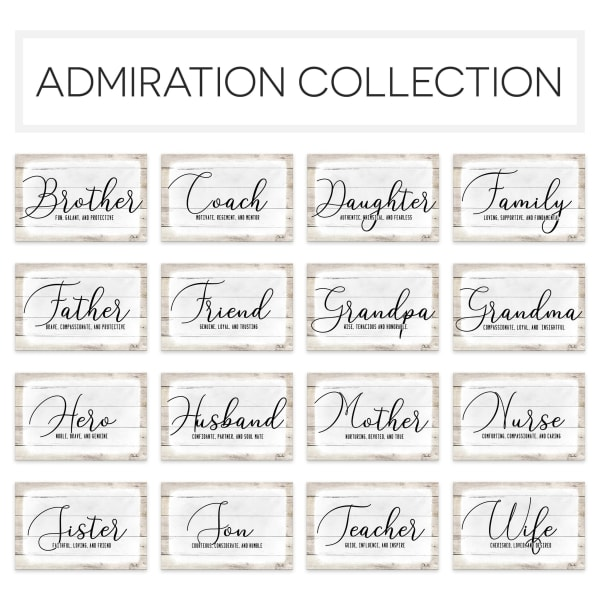 Admiration Canvas Textual Wall Art - Hero