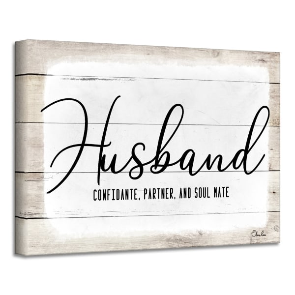 Admiration Canvas Textual Wall Art - Husband