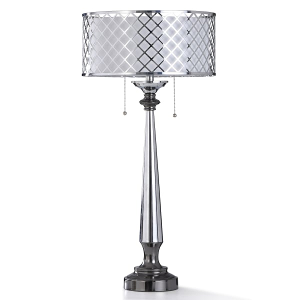 Chrome & Nickel Metal Table Lamp