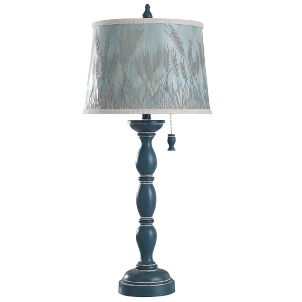 Fells Point Blue, White Distress Table Lamp