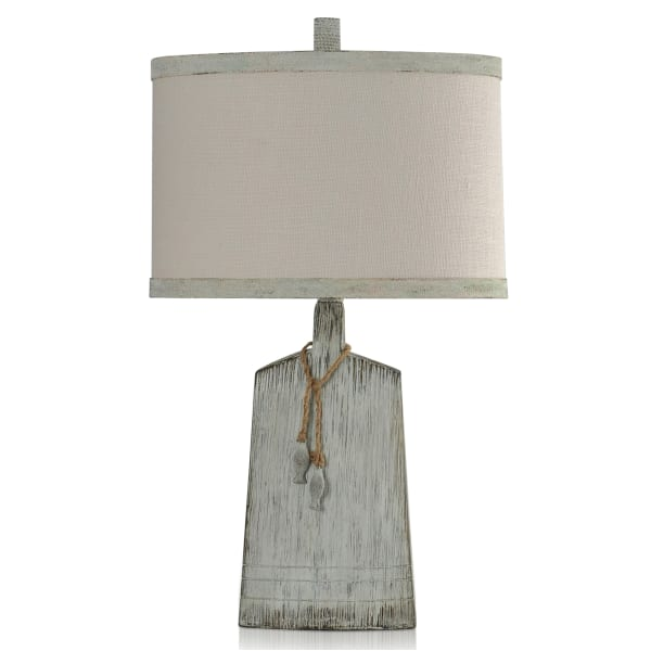Lucy White Washed, Weather Grey Table Lamp