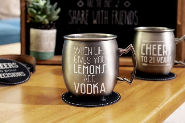Add Vodka - Stainless Steel Moscow Mule