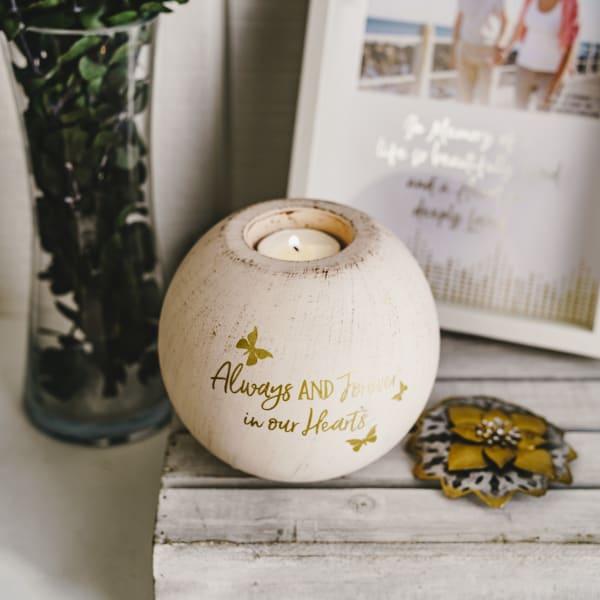 Always & Forever - Round Tea Light Candle Holder