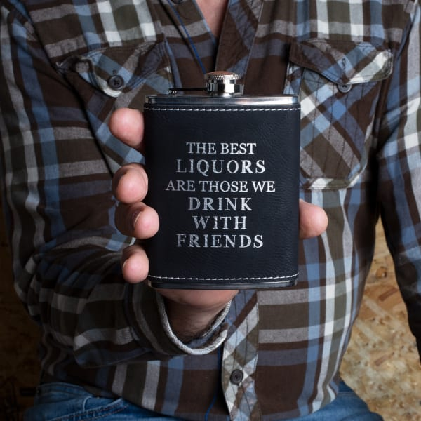 Best Liquors - PU Leather & Stainless Steel Flask