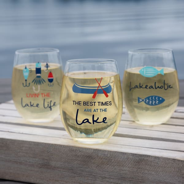 Best Times - Stemless Wine Glass