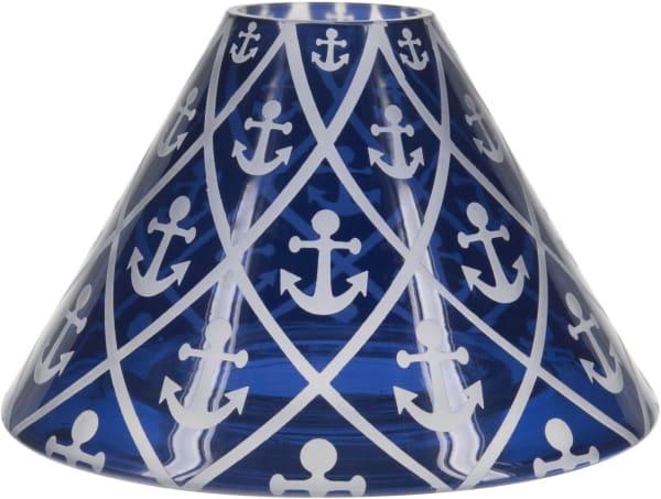Blue Anchor - Large Candle Shade
