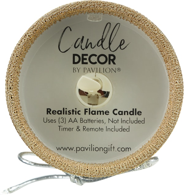 Friends - Bronze Glitter Realistic Flame Candle