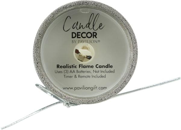Grandma - Pewter Glitter Realistic Flame Candle