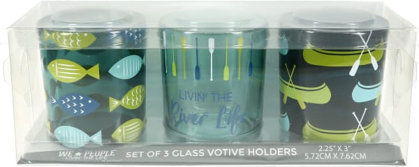 River - 3 Assorted Votive Holders