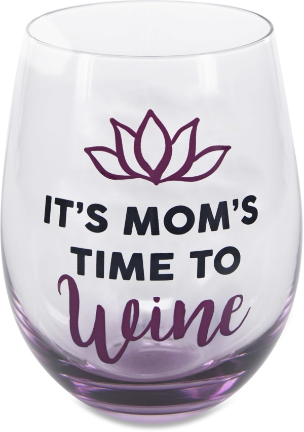 Time to Wine - Stemless Wine Glass