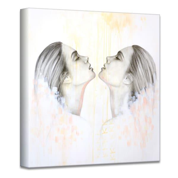 Surrender II Gray Figurative Canvas Wall Art