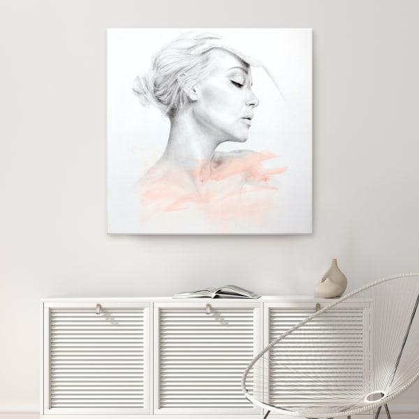Surrender IV Gray Figurative Canvas Wall Art
