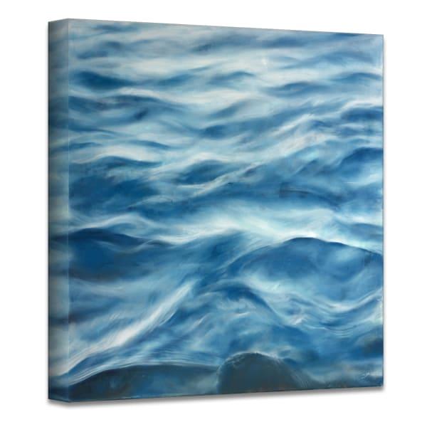 Underwater Clouds III Blue Modern Coastal Canvas Wall Art