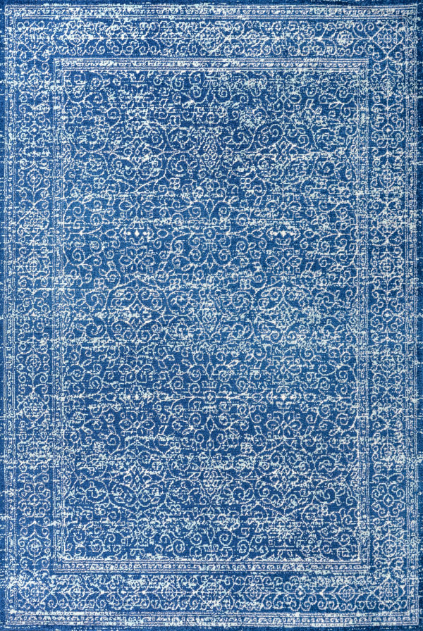 Filigree Blue and White Blue 5' x 8' Area Rug