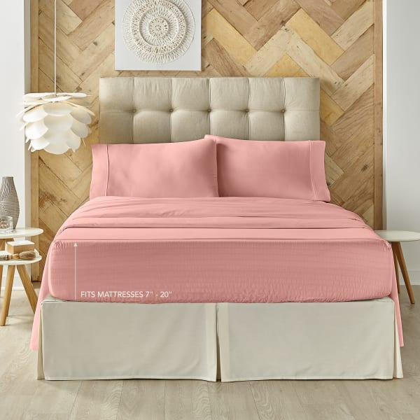 Ash Rose King 4Pc. Sheet Set