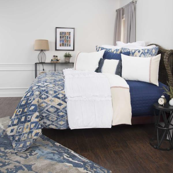 Blue 100% Cotton Geometric 90