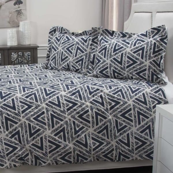 Blue 100% Cotton Geometric 114