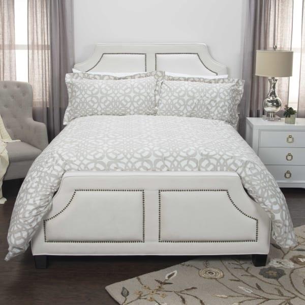 Ivory/Natural 100% Cotton Geometric 114